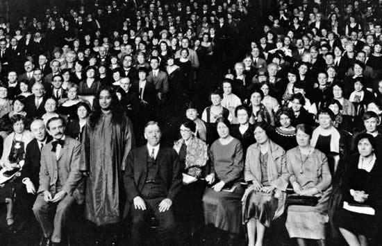 Paramahansa Yogananda in New York in 1926