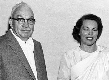 Dr. Lewis and Sri Daya Mata