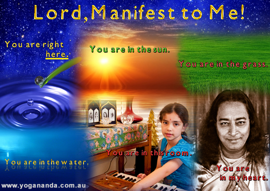 Lord, manifest to me!