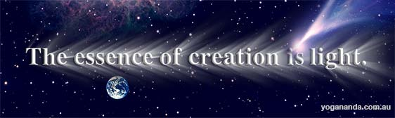 the essence of creation is light